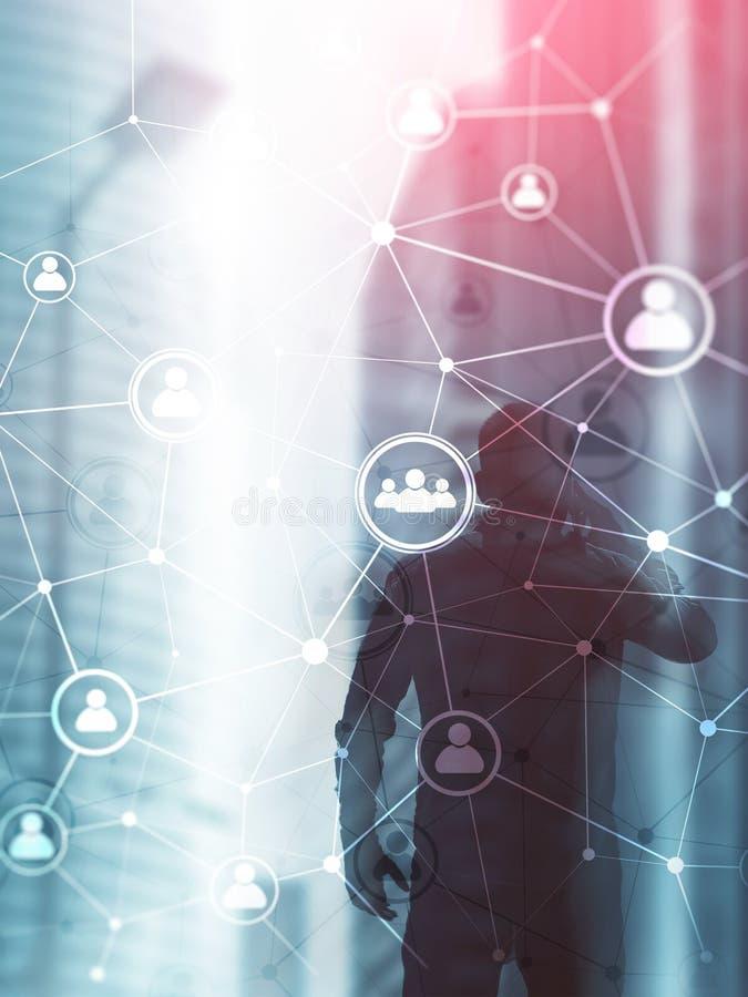 Διπλό δίκτυο structureà ¾ à ¾ ωρ. ανθρώπων έκθεσης - έννοια διαχείρισης και στρατολόγησης ανθρώπινων δυναμικών αφηρημένο σχέδιο κ στοκ εικόνα με δικαίωμα ελεύθερης χρήσης