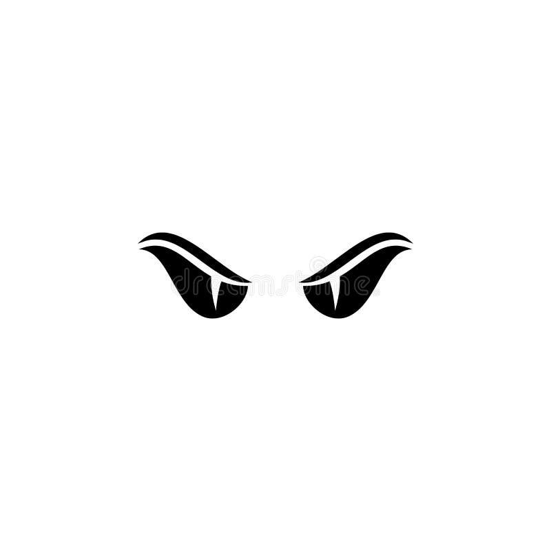Διπλό διάνυσμα ματιών οχιών διανυσματική απεικόνιση