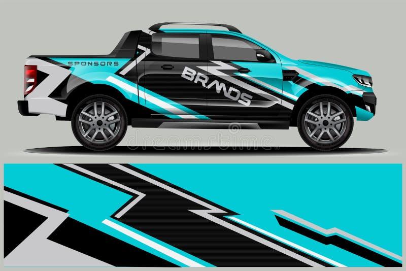 Διπλό σχέδιο περικαλυμμάτων φορτηγών καμπινών διανυσματική απεικόνιση
