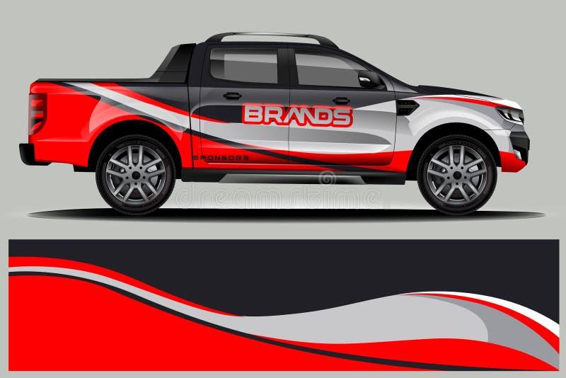 Διπλό σχέδιο περικαλυμμάτων φορτηγών καμπινών ελεύθερη απεικόνιση δικαιώματος