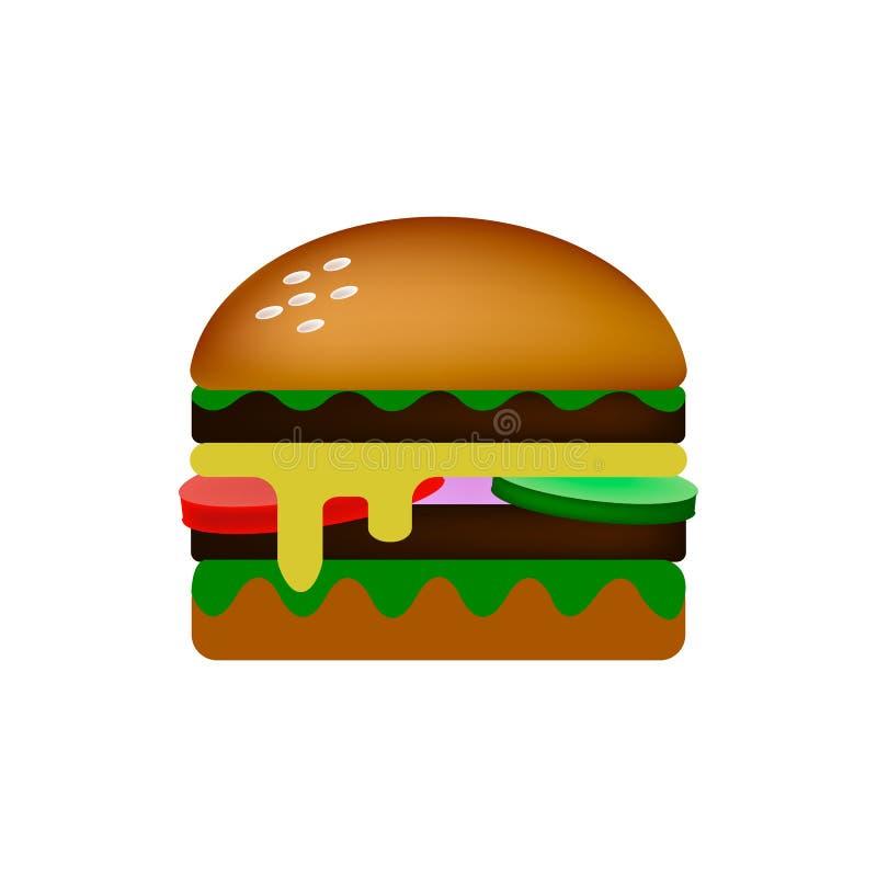Διπλό burger γρήγορου φαγητού απεικόνιση αποθεμάτων