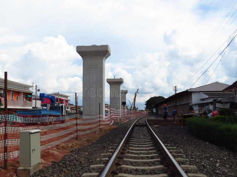 Διπλή κατασκευή συνδέσεων σε jira-Khon Kaen στοκ φωτογραφία