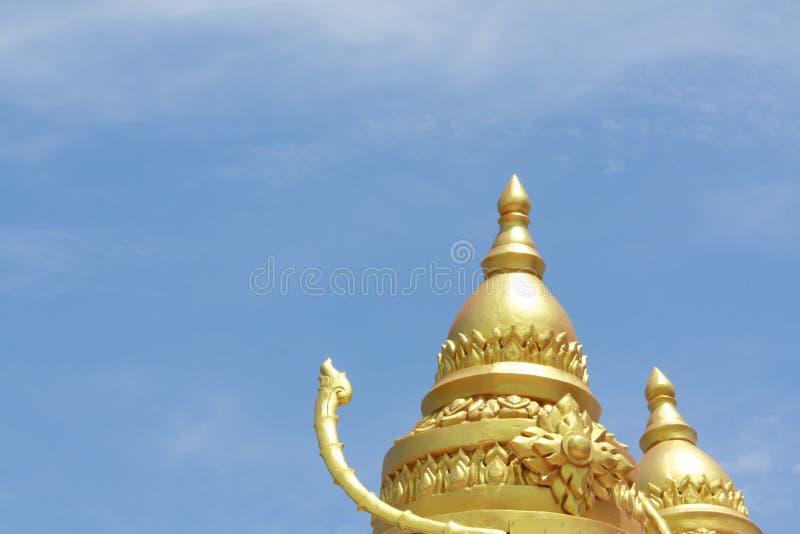 Διπλή ταϊλανδική παγόδα στοκ φωτογραφία