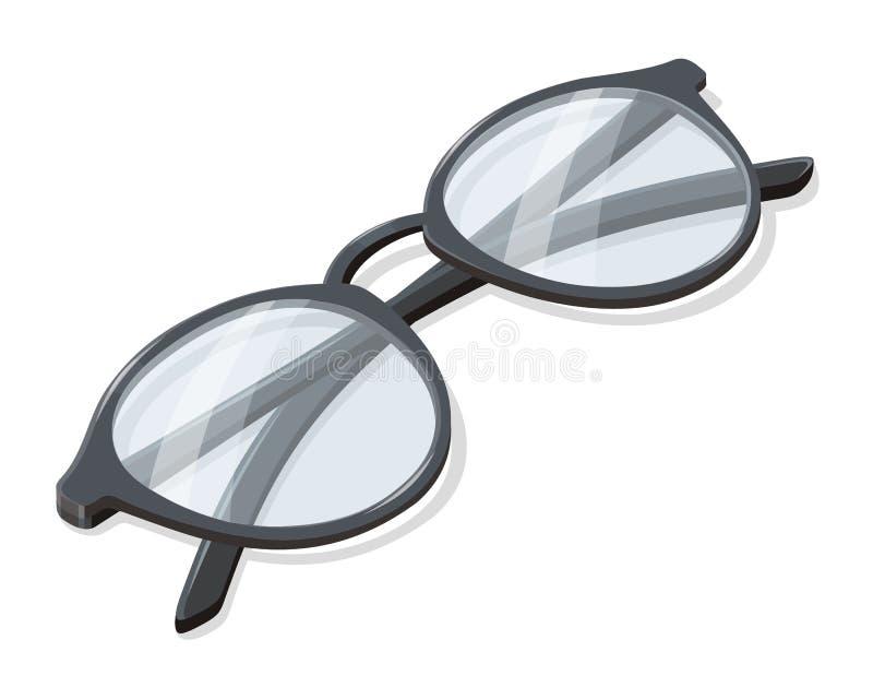 Διπλωμένη διανυσματική απεικόνιση γυαλιών σε Isometry ελεύθερη απεικόνιση δικαιώματος