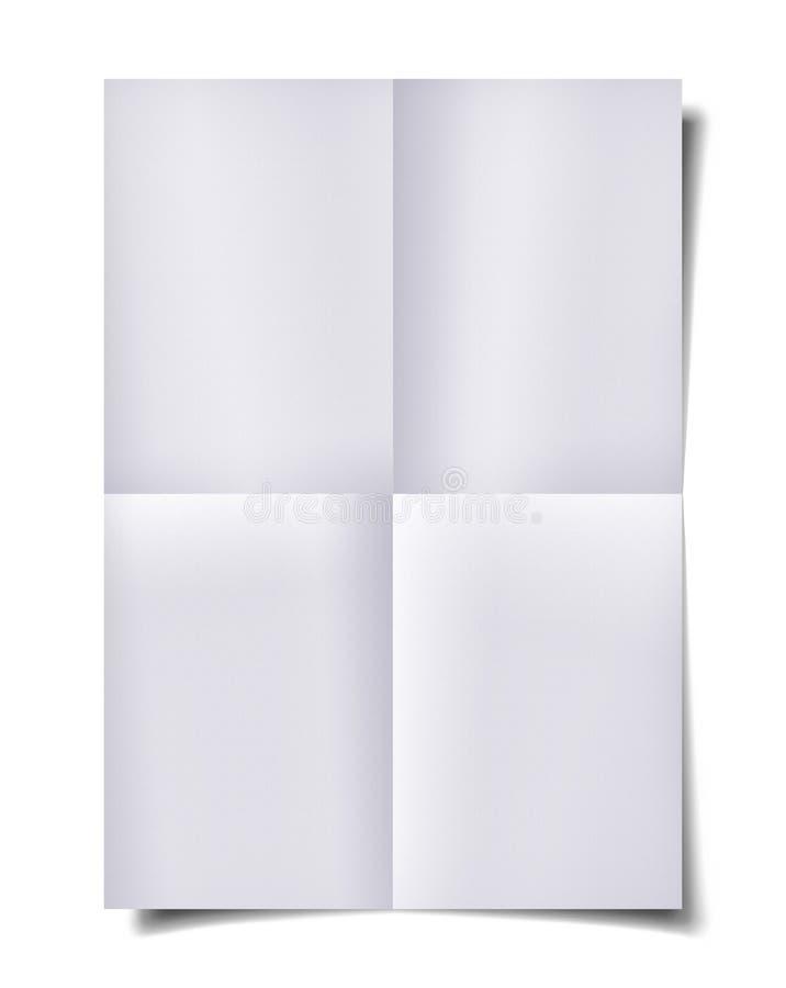 Διπλωμένο έγγραφο με τη σκιά στοκ φωτογραφίες με δικαίωμα ελεύθερης χρήσης