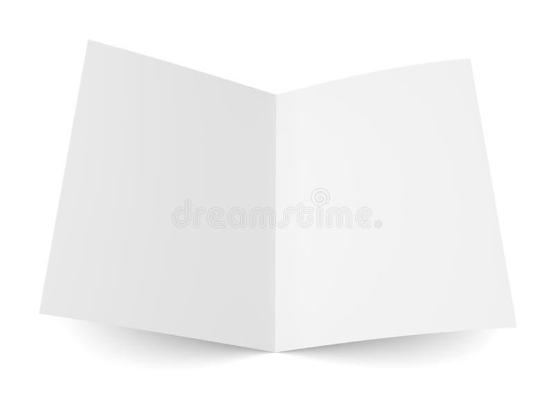 Διπλωμένο κενό ιπτάμενο, βιβλιάριο, κάρτα, επαγγελματική κάρτα ή φυλλάδιο απεικόνιση αποθεμάτων