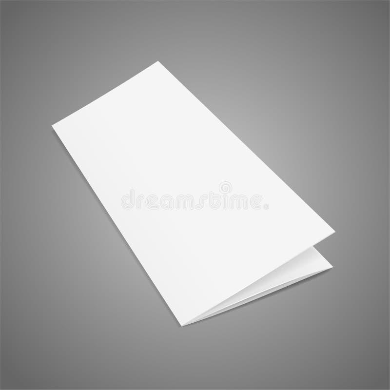 Διπλωμένο κενό πρότυπο της Λευκής Βίβλου φυλλάδιων διάνυσμα απεικόνιση αποθεμάτων