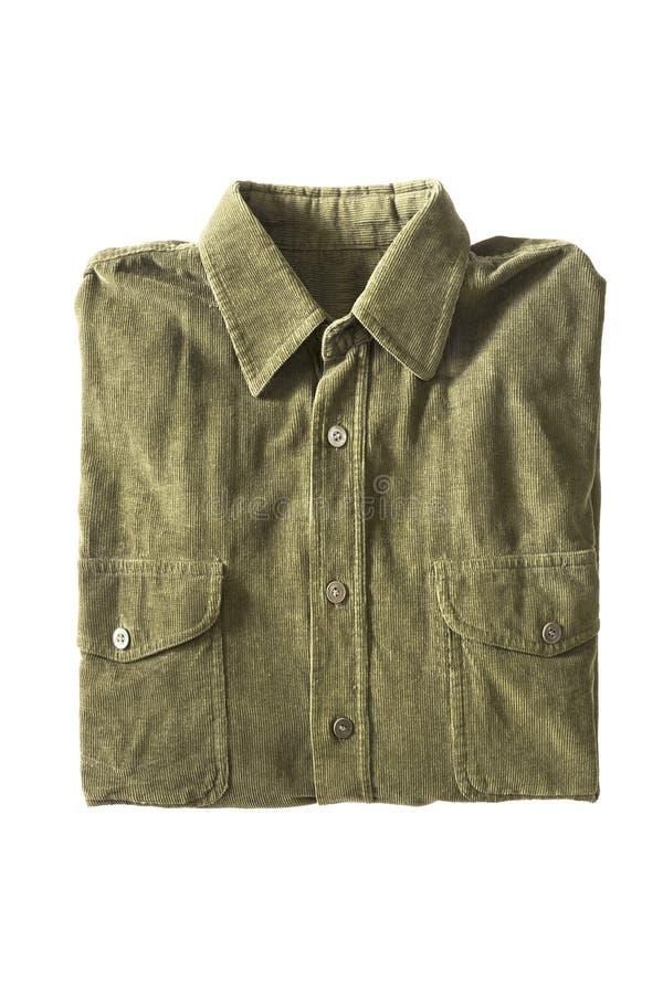 Διπλωμένο πουκάμισο που απομονώνεται στοκ φωτογραφία