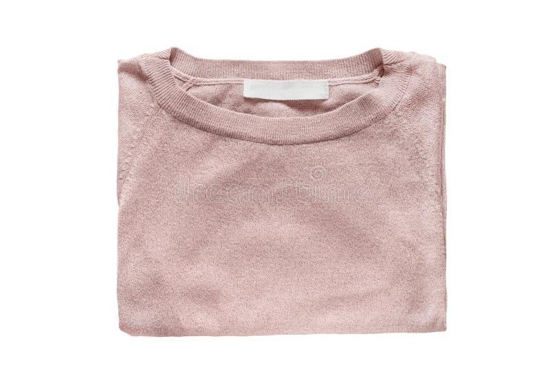 Διπλωμένο πουλόβερ που απομονώνεται στοκ εικόνες