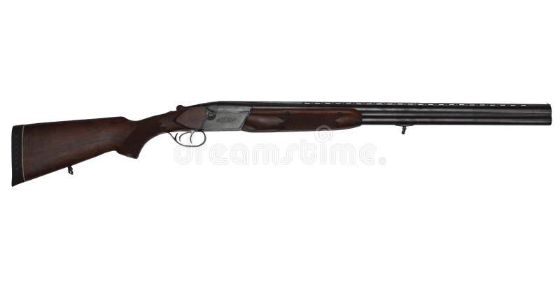 Διπλός-το πυροβόλο όπλο κυνηγιού που απομονώθηκε στο λευκό στοκ φωτογραφία με δικαίωμα ελεύθερης χρήσης