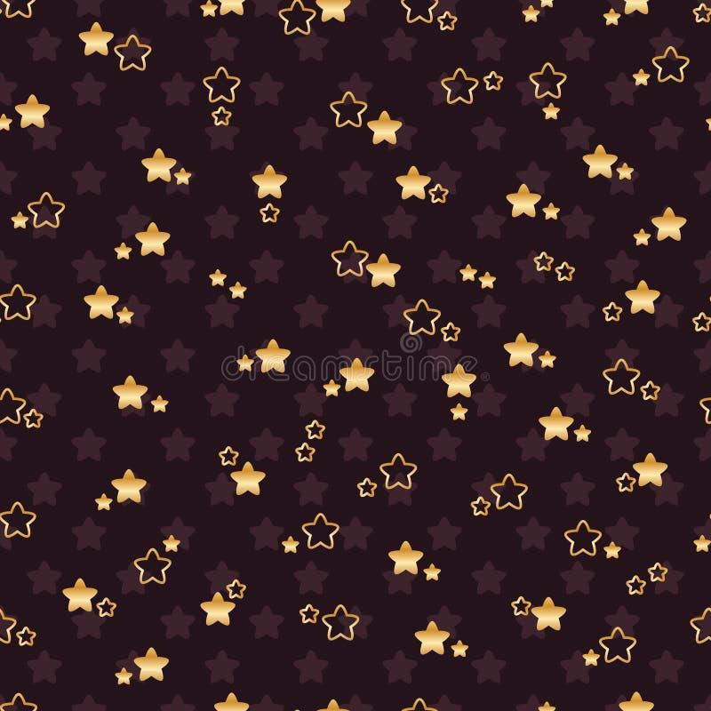 Διπλό άνευ ραφής σχέδιο αστεριών λουλουδιών ελεύθερη απεικόνιση δικαιώματος