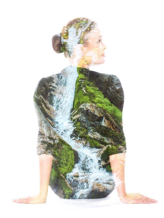 Διπλό πορτρέτο έκθεσης στοκ εικόνες