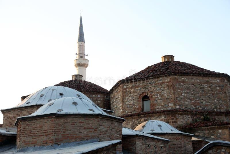 Διπλό σπίτι λουτρών Hamam πασάδων Mahmed Gazi σύνθετο σε Prizren, Κόσοβο στοκ φωτογραφίες