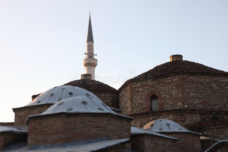 Διπλό σπίτι λουτρών Hamam πασάδων Mahmed Gazi σύνθετο σε Prizren, Κόσοβο στοκ εικόνες