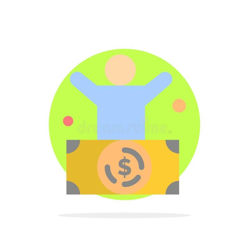 Δισεκατομμυριούχος, άτομο, εκατομμυριούχος, πρόσωπο, πλούσιο αφηρημένο κύκλων εικονίδιο χρώματος υποβάθρου επίπεδο ελεύθερη απεικόνιση δικαιώματος
