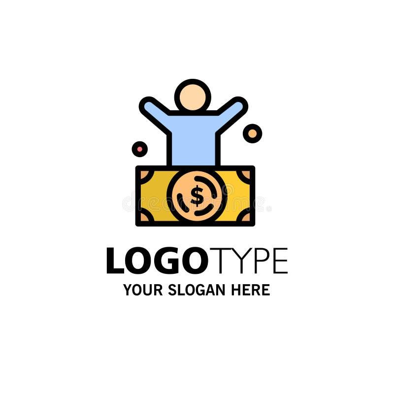 Δισεκατομμυριούχος, άτομο, εκατομμυριούχος, πρόσωπο, πλούσιο πρότυπο επιχειρησιακών λογότυπων Επίπεδο χρώμα διανυσματική απεικόνιση