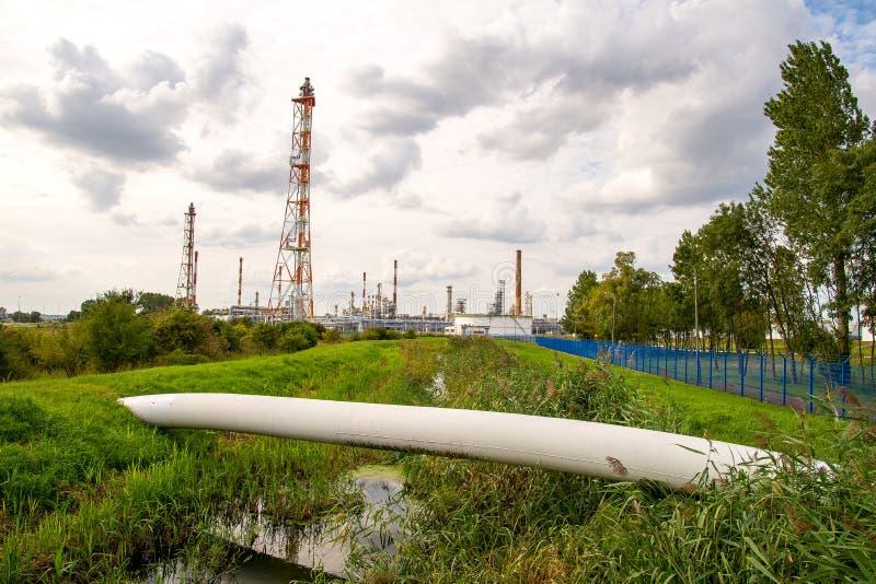 Διυλιστήριο πετρελαίου του Γντανσκ στοκ εικόνα