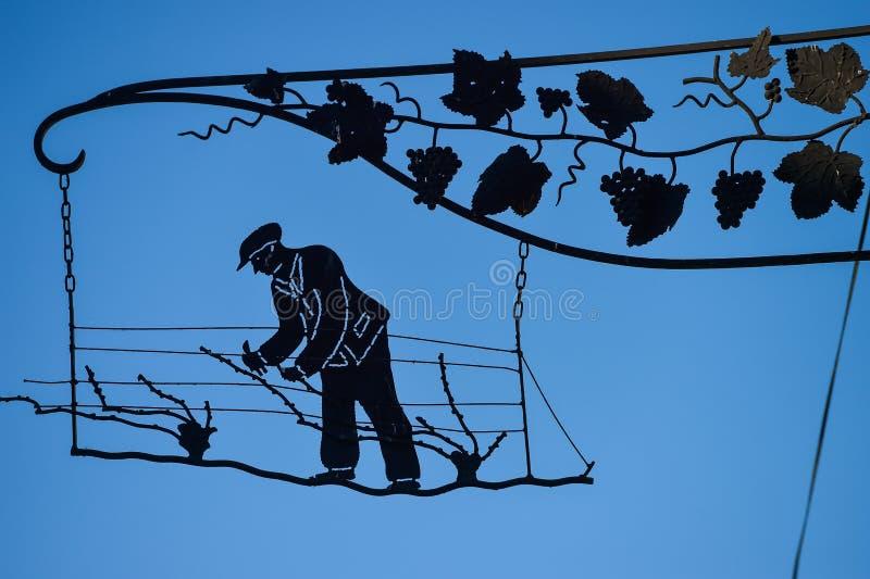 Διδάσκω? winemaker αμπελώνες Oger CHAMPAGNE Marne στο τμήμα Γαλλία στοκ φωτογραφίες