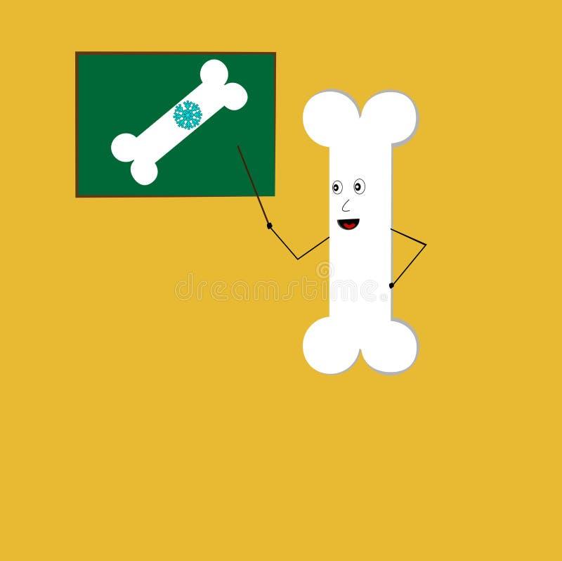Διδασκαλία κόκκαλων για το ασβέστιο και το γάλα απεικόνιση αποθεμάτων