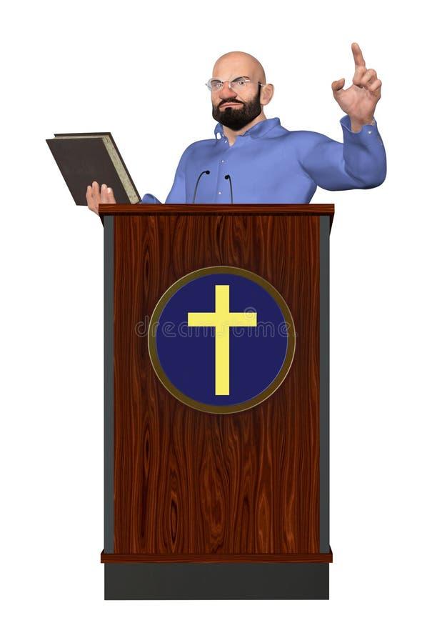 Διδασκαλία Word παστόρων της απεικόνισης εξεδρών Θεών απεικόνιση αποθεμάτων