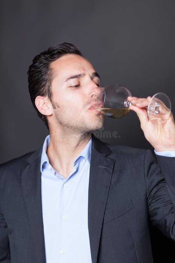 Δοκιμάζοντας κρασί ατόμων στοκ εικόνα με δικαίωμα ελεύθερης χρήσης