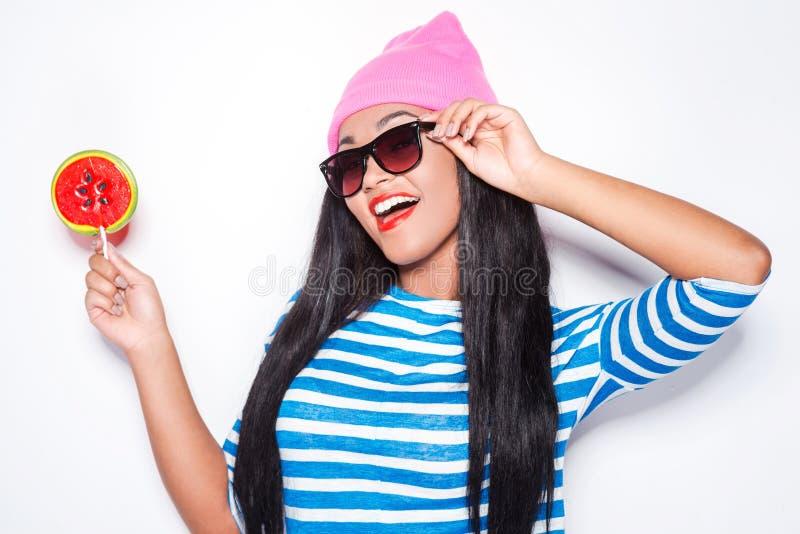 Δοκιμάστε το lollipop μου! στοκ εικόνα με δικαίωμα ελεύθερης χρήσης
