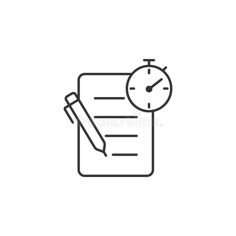 δοκιμή με το εικονίδιο μανδρών και ρολογιών Απλή απεικόνιση στοιχείων δοκιμή με το πρότυπο σχεδίου συμβόλων μανδρών και ρολογιών  απεικόνιση αποθεμάτων