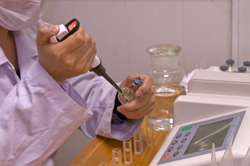 δοκιμή υπολειμμάτων φυτοφαρμάκων στοκ φωτογραφία