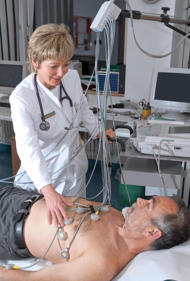 Δοκιμή EKG στοκ εικόνες με δικαίωμα ελεύθερης χρήσης