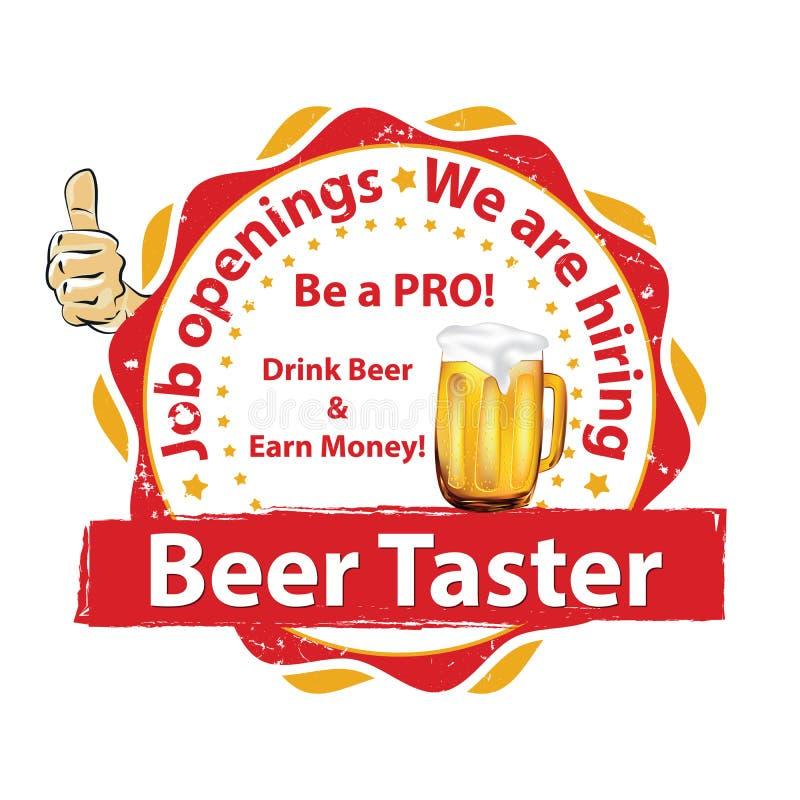 Δοκιμαστής μπύρας επιθυμητός απεικόνιση αποθεμάτων