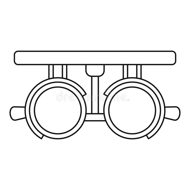 Δοκιμαστικό εικονίδιο πλαισίων lense, ύφος περιλήψεων ελεύθερη απεικόνιση δικαιώματος