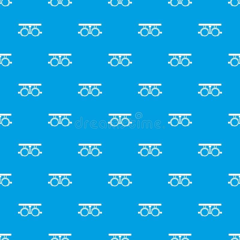 Δοκιμαστικό πλαίσιο για τον έλεγχο του υπομονετικού άνευ ραφής μπλε σχεδίων οράματος απεικόνιση αποθεμάτων