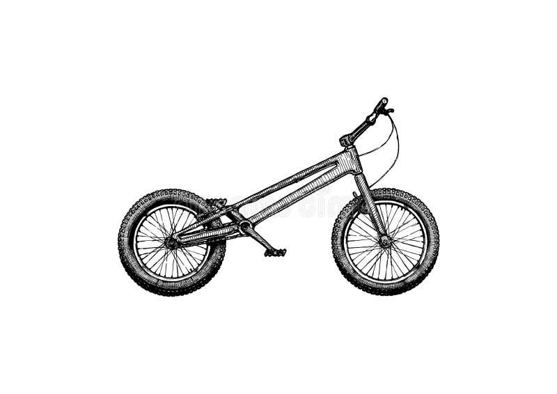 Δοκιμαστικό ποδήλατο, νεαρός δικυκλιστής απεικόνιση αποθεμάτων