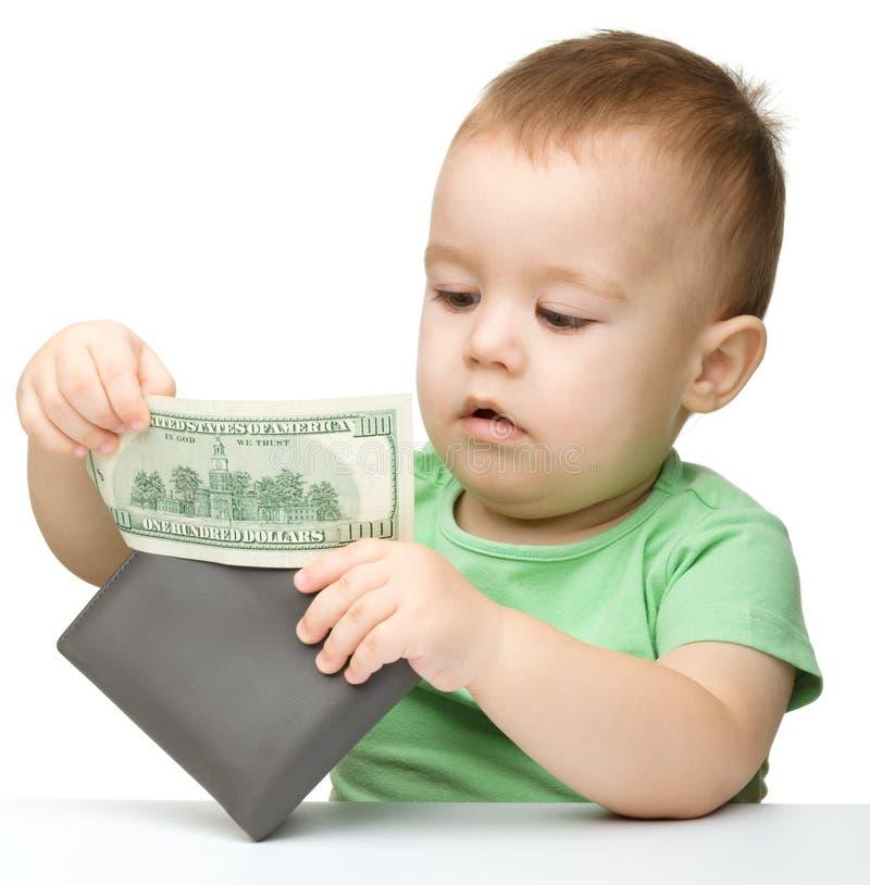 δολάρια αγοριών λίγο παιχνίδι στοκ φωτογραφίες με δικαίωμα ελεύθερης χρήσης