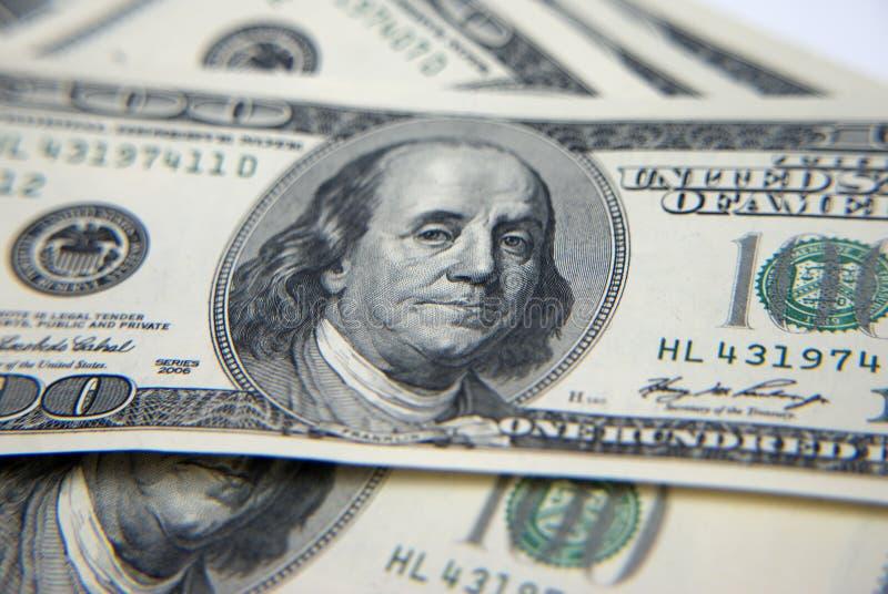 δολάρια εκατό ένα στοκ εικόνα