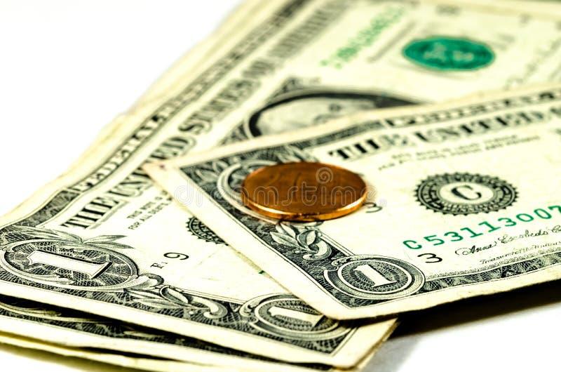 Δολάρια και σεντ στοκ εικόνα με δικαίωμα ελεύθερης χρήσης