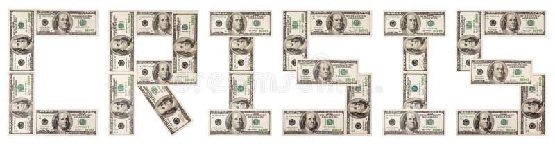 δολάρια κρίσης ένα στοκ φωτογραφία