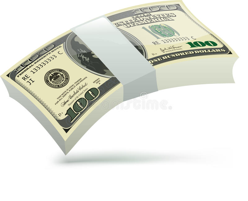 δολάρια πολλά απεικόνιση αποθεμάτων