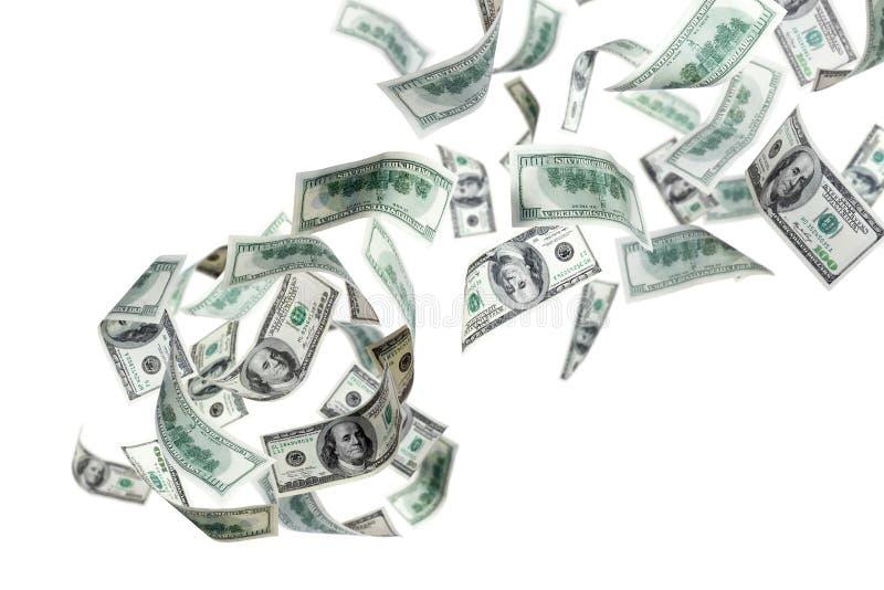 δολάρια που πέφτουν εμεί&s στοκ εικόνα