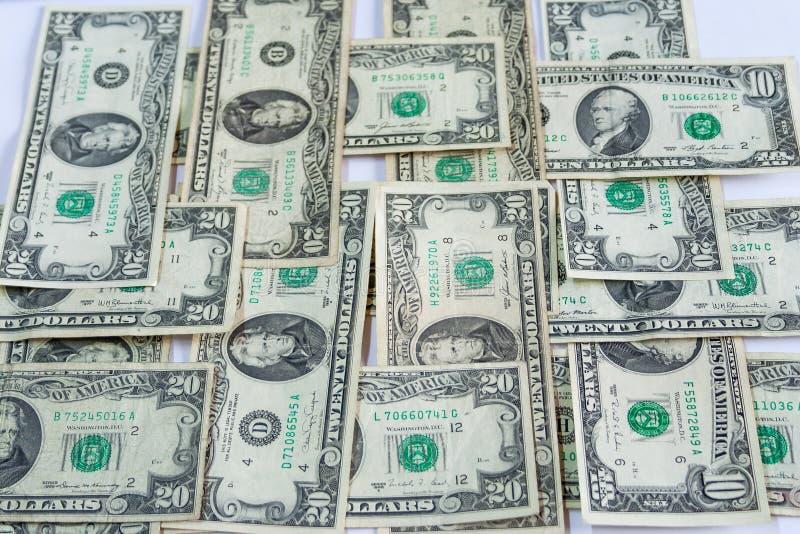 Δολάρια που τακτοποιούνται κάθετα στοκ εικόνες με δικαίωμα ελεύθερης χρήσης