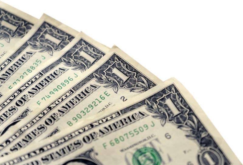 Δολάρια σε ένα άσπρο υπόβαθρο, κινηματογράφηση σε πρώτο πλάνο στοκ φωτογραφία με δικαίωμα ελεύθερης χρήσης