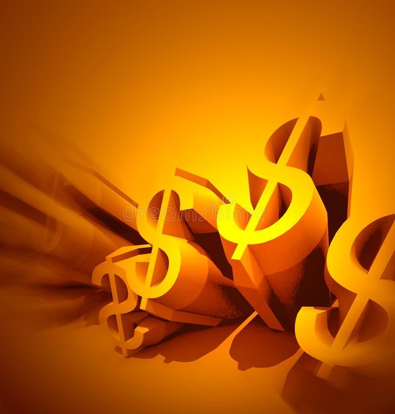 δολάρια χρυσά διανυσματική απεικόνιση