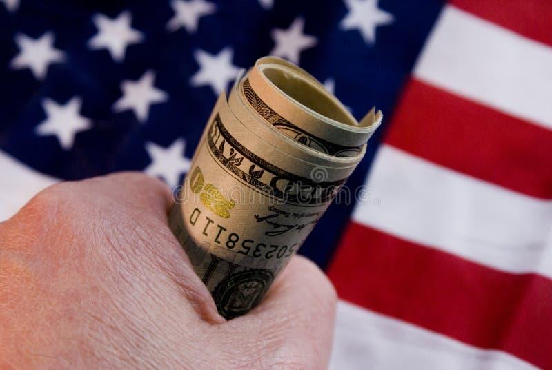 δολάρια fistful στοκ φωτογραφία