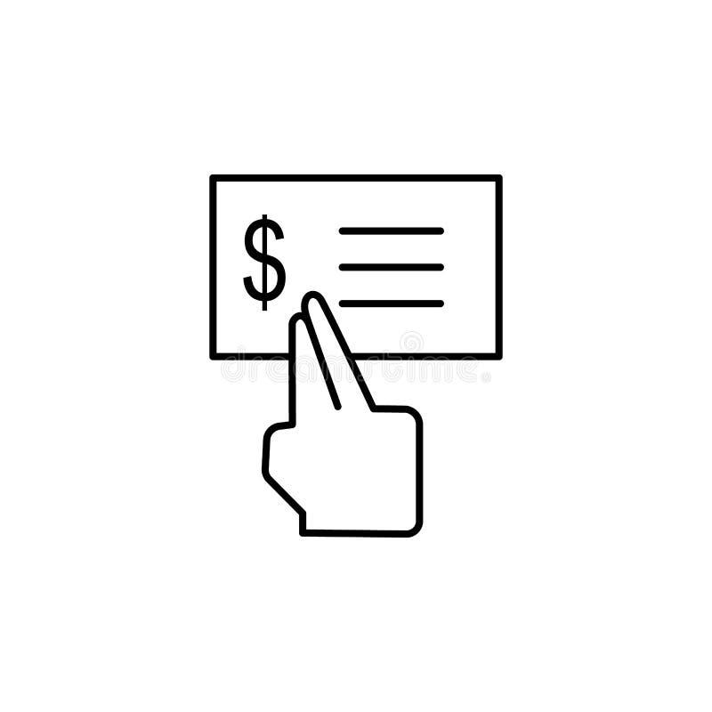 Δολάριο, έλεγχος, δάχτυλο, εικονίδιο αφής Στοιχείο του εικονιδίου δωροδοκίας o ελεύθερη απεικόνιση δικαιώματος