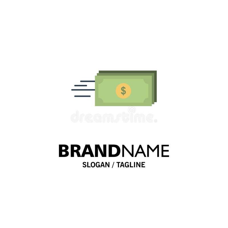 Δολάριο, επιχείρηση, ροή, χρήματα, πρότυπο επιχειρησιακών λογότυπων νομίσματος Επίπεδο χρώμα απεικόνιση αποθεμάτων