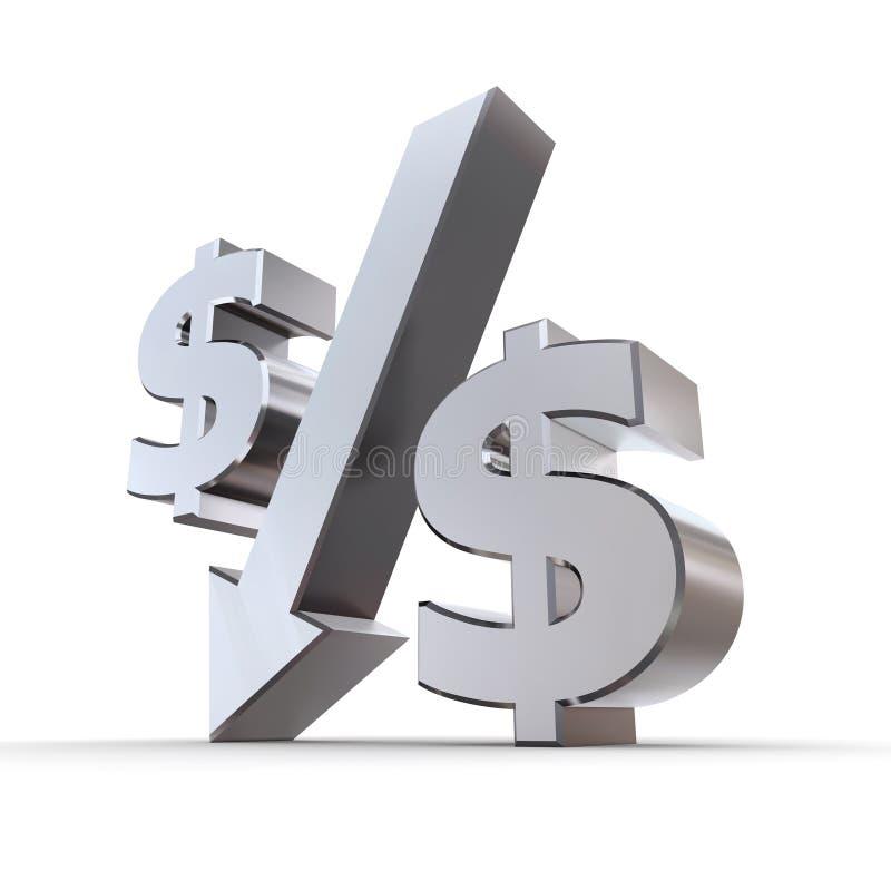 δολάριο κάτω από το ποσο&sigma διανυσματική απεικόνιση