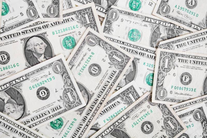 δολάριο λογαριασμών ένα στοκ εικόνες