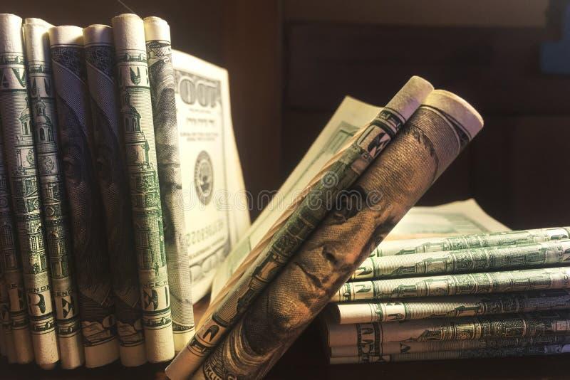 δολάριο λογαριασμών στοκ φωτογραφία
