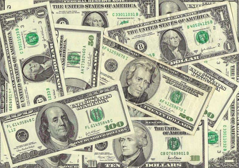 δολάριο λογαριασμών στοκ εικόνες