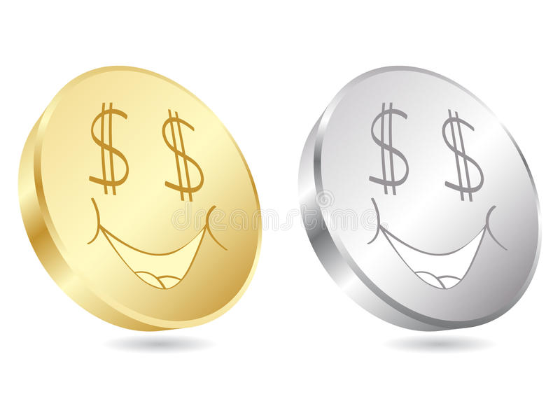 δολάριο νομισμάτων διανυσματική απεικόνιση